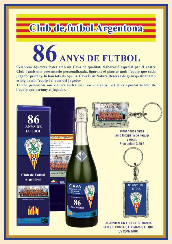 Publicidad Aniversario Argentona CF